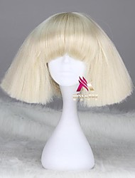 cheap -Synthetic Wig lady gaga Straight Bob Wig Short Dark Brown Silver grey Dark Blonde Pink Green Synthetic Hair 12 inch Women's Comfy Fluffy Red Pink