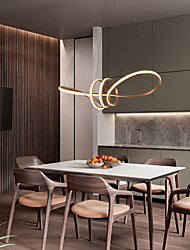 cheap -72 cm Single Design LED Pendant Light Modern Nordic Circle Dining Room Living Room Metal 220-240V
