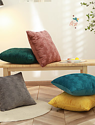 cheap -1 Pc Decorative Throw Pillow Cover High Quality Dutch Velvet Pillowcase Cushion Cover for Bed Couch Sofa 18*18 Inches 45*45cm