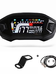 cheap -Motorcycle LCD Instrument LCD Color Display Odometer Water Temperature Speedometer ABS General Car Accessories