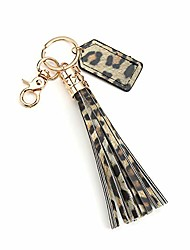 cheap -leather leopard tassel keychain for women bag charm accessories for key handbag purse phone wallet unique gift