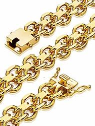 "cheap -gold link bracelet for men boy designer 15mm 18k gold heavy chain biker bracelet hip hop jewelry (15mm, 9.5"")"