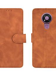 cheap -Phone Case For Nokia Full Body Case Leather Nokia 1.3 Nokia 5.3 Nokia C1 Nokia 6.2 Shockproof Solid Color PU Leather TPU