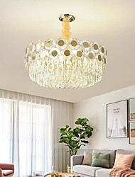 cheap -50/60 cm Crystal Chandelier Luxury Pendant Light Desgin Modern Gold Stainless Steel Electroplated 110-120V 220-240V