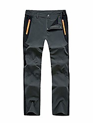 cheap -men's lightweight walking trousers elasticated waist - quick drying hiking trousers breathable zipper pockets wear camping leisure - grey - l (label 2xl) waist 34 inches-36 inches