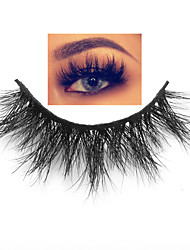 cheap -Real Mink Lashes Eyelashes Cruelty Free 100% Handmade Natural Thick Reusable 3D False Eyelashes Extension Makeup