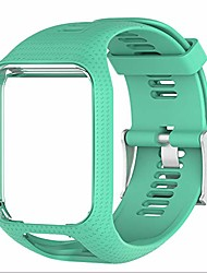 cheap -tomtom watch strap, soft silicone replacement strap sport bracelet wristband for tomtom runner 2/runner 3/spark 3/golfer 2/adventurer (teal)