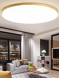 cheap -38/48 cm LED Ceiling Light Modern Basic Wood Round Square Size Living Room Bedroom Dining Room Flush Mount Lights Acrylic Painted Finishes Modern Nordic Style 110-120V 220-240V