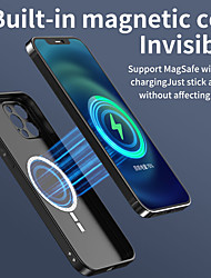 cheap -Designed for iPhone 12 Magsafe Case Apple iPhone 11 iPhone 12 Pro Max Anti-Scratch Cover for iPhone XR Xs Max Shockproof Wireless Charging Receiver Case Magnetic Back Cover Solid Colored Case