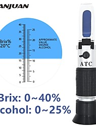 cheap -Handheld alcohol refractometer sugar Wine concentration meter densitometer 0-25% alcohol beer 0-40% Brix grapes ATC