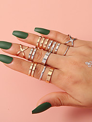 cheap -Ring Hollow Out Gold Alloy Infinity Statement Simple Fashion 1 set One Size / Women's