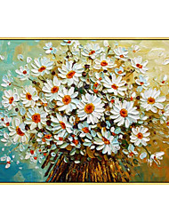 cheap -100% Hand-Painted Contemporary Art Oil Painting On Canvas Modern Paintings Home Interior Decor Daisy Art Painting Large Canvas Art(Rolled Canvas without Frame)