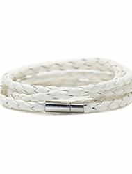 cheap -fashion alloy buckle cuffs multilayer leather bracelet bangle,7.5inches