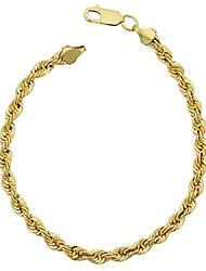 cheap -14k yellow gold filled men's 4.2 mm rope chain bracelet (8.5 inch)