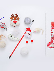 cheap -Interactive Toy Cat Toys Set Christmas Toy Dog Cat 1 set Animal Pet Exercise Releasing Pressure Cotton Gift Pet Toy Pet Play