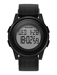 cheap -SANDA Men's Digital Watch Digital Digital Sporty Classic Water Resistant / Waterproof Calendar / date / day Alarm Clock / One Year / Rubber / Japanese