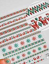 cheap -10 pcs Nail Sticker Japanese 5D Nail Sticker Pro Stereo Christmas Sweater Sticker