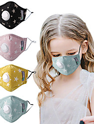 cheap -10 pcs Children's Mask With Valve Pm2.5 Dust-proof And Anti-smog Cartoon Activated Carbon Filter Breathing Valve Pure Cotton Mask
