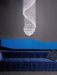 cheap -6-Light 60cm(23.6inch) Crystal LED Pendant Light Metal Crystal Electroplated Modern Contemporary 110-120V 220-240V