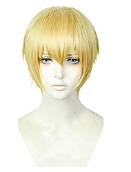 cheap -heat resistant short cosplay full wig gold