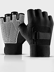 cheap -Hand & Wrist Brace Workout Gloves Weight Lifting Gloves Sports PU Leather / Polyurethane Leather Exercise & Fitness Weightlifting Durable Lightweight For Men Women