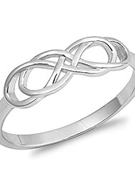 cheap -925 sterling silver double infinity ring size 8