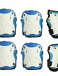 cheap -protective knee pads protective gear with knee elbow wrist pads for kid children teenager adult for rollerblading skating skateboard scooter biking cycling blue-m