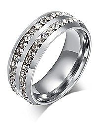 cheap -nl10 mens womens 8mm titanium stainless steel high polished 18k gold plated channel set cubic zirconia cz promise engagement band unisex gold wedding ring comfort fit, size 6-13 (12, silver)