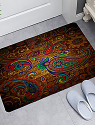cheap -Color Pattern Wooden Board Digital Printing Floor Mat Modern Bath Mats Nonwoven Memory Foam Novelty Bathroom