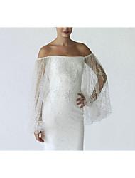 cheap -Mermaid / Trumpet Wedding Dresses V Neck Strapless Sweep / Brush Train Chiffon Sleeveless Simple with Crystals 2021