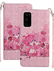 cheap -Case For Motorola MOTO One Vision / MOTO one action / Moto G8 Plus Shockproof Full Body Cases Animal / Cartoon PU Leather / TPU