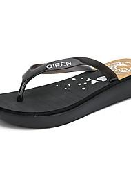 cheap -Women's Slippers & Flip-Flops Flat Heel Open Toe Daily EVA(ethylene-vinyl acetate copolymer) Black Pink