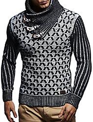cheap -men's knitted sweater knitted sweater with shawl collar modern woolen sweater ln5385 black ecru medium
