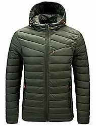cheap -mens lightweight long sleeve down jacket with hood down coats men's packable down jacket down filled coat parka quilted padded hooded puffer jacket bubble puffa jacket winter