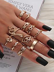 cheap -Ring Snake Gold Alloy Snake Eyes Star Ethnic Fashion Vintage 1 set 7 / Women's