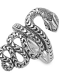 cheap -viper snake ring, sterling silver 925, serpent animal wrap, with free jewelry gift box (8)