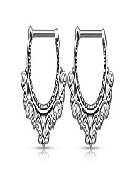cheap -pair of tribal hearts filigree nipple clicker rings barbell barbells 316l stainless steel - sold as a pair (16g pair)