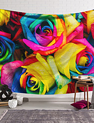 cheap -Wall Tapestry Art Decor Blanket Curtain Hanging Home Bedroom Living Room Decoration Polyester Fiber Color Rose Flower