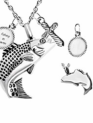 cheap -cremation jewelry fish hook ashes urn necklace memorial pendant free engraving