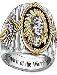 cheap -925 sterling silver spirit of the warrior native american-inspired enamel ring for men,size 8