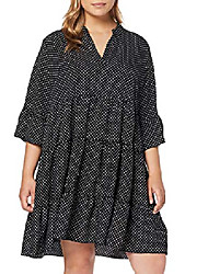 cheap -women spot tiered dress, black (black pattern 9), 20 (manufacturer size:20)