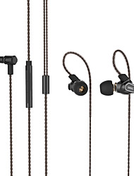 cheap -REMAX RM-580 In-ear Mobile Phone Wire-controlled Earphones Dual-action Metal Wired Earplugs