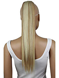 cheap -24inch hair piece clip on ponytail extension long wavy heat-resisting blond mix 27h613 hck7