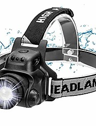 cheap -led headlamp headlamp with gesture sensor function usb waterproof rechargeable headlight, 4 brightnesses, 90 ° adjustable, adjustable strap and usb cable, adjustable focus