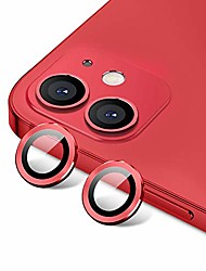 cheap -[set of 2] eagle eyes series camera lens protector compatible with iphone 12 / 12 mini premium tempered glass aluminum alloy lens screen cover film accessories designed for iphone 12 / 12 mini, red
