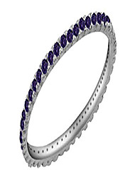 cheap -simulated alexandrite eternity stackable wedding ring in 925 sterling silver (1/5 cttw)