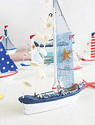 cheap -Mediterranean Style Home Decoration Plain Sailing Blue And White Sailboat Model Ornaments