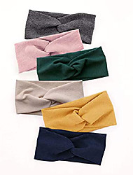 cheap -turban headbands for women wide head wraps knotted elastic teen girls yoga workout solid color hair accessories 1 pack