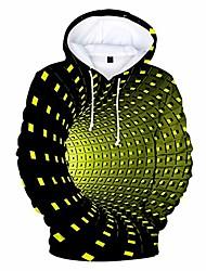 cheap -3d print hoodie men hoodie with swirl dots design, men pullover sweatshirt casual long sleeve tops pullover hoodie (yellow, l)