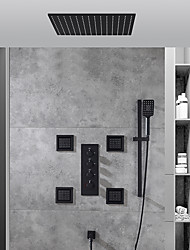 cheap -Shower Faucet / Shower System / Rainfall Shower Head System Set - Handshower Included Fixed Mount Rainfall Shower Contemporary Painted Finishes Ceiling Mounted Ceramic Valve Bath Shower Mixer Taps